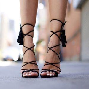 ASOS Lace Up Black Heels